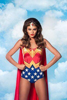 Wonder Woman Halloween Costume One Piece Bodysuit Only Starter kit DIY](Diy Halloween Costume Wonder Woman)