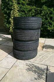 4xNearly new Continental Connect2 215/45/16R86H