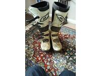 O'neal element motocross boots size 12 used 2 times!