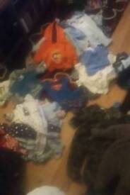 A selection of 0 to 3 months clothes price starts at 50p