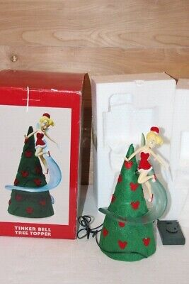 Disneyland Park Tinkerbell Christmas Tree Topper Figure Peter Pan In Box 12""