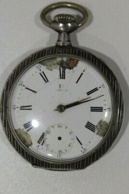 Omega Silver Antique Pocket Watch 800 SPARE PATRS REPEAR