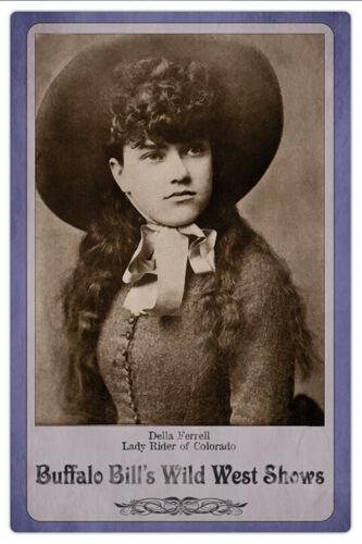 DELLA FERRELL Trick Rider Wild West Shows Legend Vintage Photo Cabinet Card RP