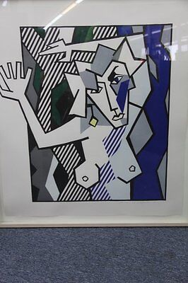 """Roy Lichtenstein - Very Rare L/E of 50, Woodcut """"Nude in the Woods"""", Hand-signed"""