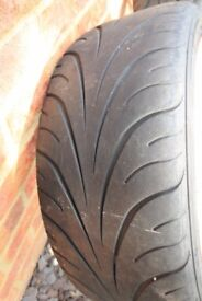 Federal RS-R 215/40ZR17 83W x 4 used road legal track/fast road tyres
