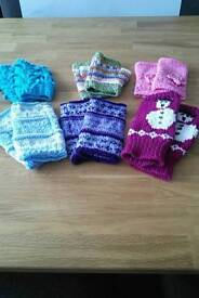 Hand knitted Fingerless mitts for phone users! £3