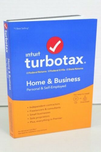 New Intuit Turbotax Home & Business 2019 For Windows & Mac Sealed (LOC 42G)