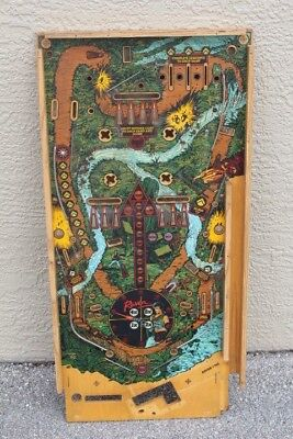 Gottlieb  RAVEN PINBALL MACHINE PLAYFIELD - USED