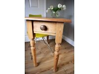 Old Pine Table, Console Table, Side Table, Desk - Vintage