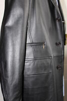 Tombolini Leather Trench Coat - Made in Italy - Size 40 - NEW