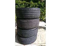 4xContinental Connect tyres. 215/45/16R86H. Nearly new