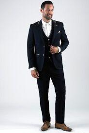 "Navy Blazer and Waist Coat MARC DARCY size 36"" CHEST"