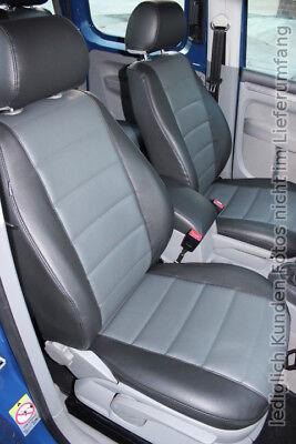 VW CADDY Maß Schonbezüge Sitzbezug Sitzbezüge 1+1 Kunstleder D101