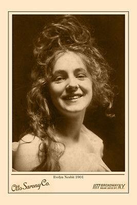 EVELYN NESBIT Early Film Star Beauty Vintage Sarony Photograph Cabinet Card CDV