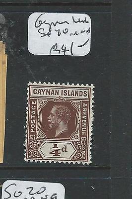 CAYMAN ISLANDS  (P1807B) KGV 1/4D  SG 70  MNH