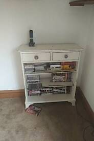 Small bookcase with 2 draws.