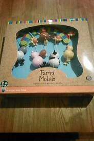 BNIB farmyard wooden mobile