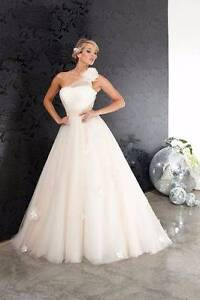 WEDDING DRESS: champagne tulle ballgown from Halo great condition Valley View Salisbury Area Preview