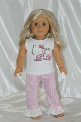 Doll Clothes fits 18 inch American Girl Dress Pajamas Hello Kitty