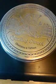 Silver plated quality street tin