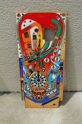 William's FUNHOUSE PINBALL MACHINE PLAYFIELD - USED with OVERLAY