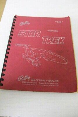Bally STAR TREK Pinball Machine Manual - Used Original