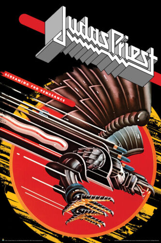 JUDAS PRIEST Screaming For Vengeance  Original Published Poster RARE 24x36 inch