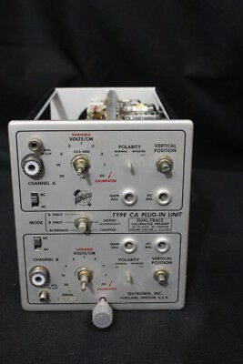 Vintage Textronix Dual Trace Calibrated Preamp Type Ca Plug-in Unit
