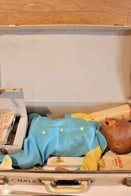 Vintage Laerdal Resusci Baby Cpr Doll Manikin Dummy In Case