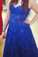 Two blue prom dresses size 8