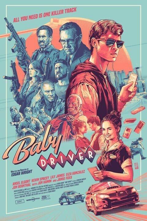 Baby Driver Jon Hamm Aurelio Lorenzo Art Print Poster Mondo Movie Edgar Wright