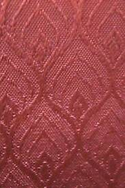 Curtains. Pair of Heavy embossed with pencil pleat heading