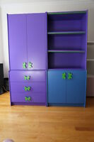 Children Bedroom Furniture, dresser, wall unit, shelf unit 5-pcs