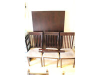 Dining table and 6 chairs Excellent condition