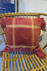 Red and gold Laura Ashley cushions