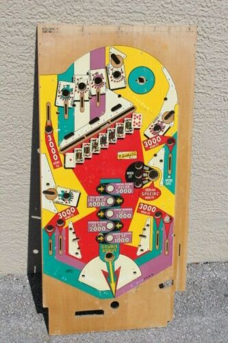 Gottlieb Royal Flush or Card Whiz PINBALL MACHINE PLAYFIELD