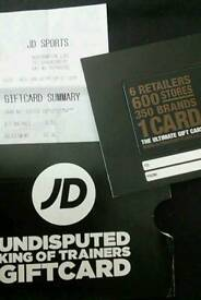 JD sports, scotts, TESSUTI Ultimate Outdoors, Blacks, millets card value £55