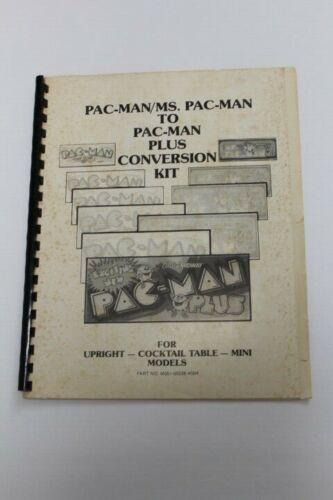 MIDWAY MS PAC MAN PLUS ARCADE GAME Conversion Kit Manual - Used ORIGINAL