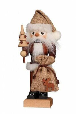 Christian Ulbricht Natural (Christian Ulbricht Natural Wood Santa with Sack German Nutcracker - New for 2019 )