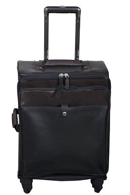 Scully Leather Wheeled Carry On Black 914-07-24-F