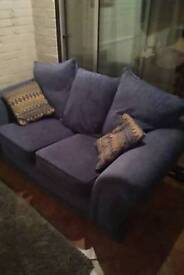 Two Seater Sofa - Blue Fabric for sale