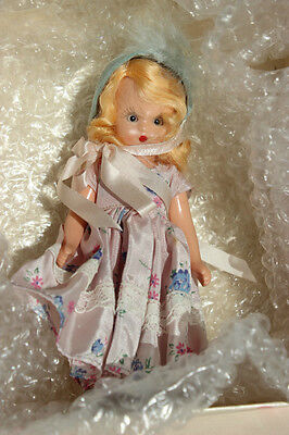 Nancy Ann Storybook Plastic Doll 181 Tuesday's Child in Pink Polka Dot Box