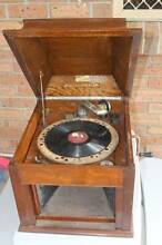 Vintage Aeolian Vocalion Wood Tabletop Gramophone Alexandra Hills Redland Area Preview