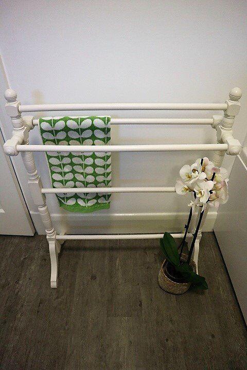 Vintage Decorative Towel Rail - Hand Painted, Shabby Chic