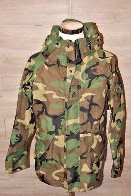 US Military BDU Woodland ECWCS Camo Gore-Tex Parka Jacket Size Medium