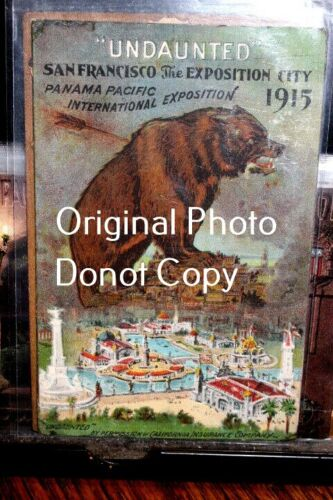 """#D2510,Seldom Seen Pan Pacific Expo """"Undaunted""""1915 Expo Poster Cd"""