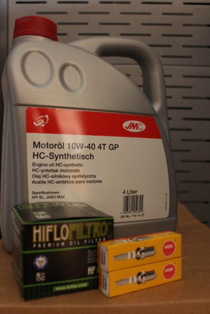 Hyosung GV650 (2006 >) Service Kit 4L Oil, HF681 Filter, CR8E Spark Plug