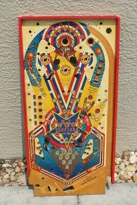 BALLY HARLEM GLOBETROTTERS PINBALL MACHINE PLAYFIELD - USED