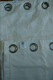 Ring Top Embossed Curtains..... As new