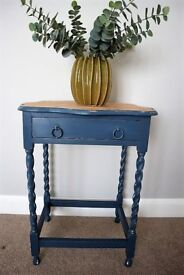 Vintage Oak Console Table - Hall Table - Side Table - Shabby Chic